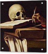 St. Jerome Writing Acrylic Print
