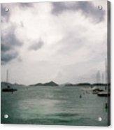 St John - Boats Islands Clouds Acrylic Print