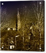 St. John The Baptist From The Rail Road Trestle In Manayunk Acrylic Print