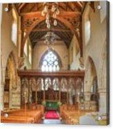 St John The Baptist Penshurst Interior Acrylic Print