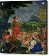 St John The Baptist Preaching Acrylic Print