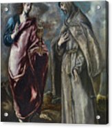 St. John The Evangelist And St. Francis Of Assisi Acrylic Print