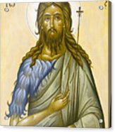 St John The Forerunner Acrylic Print by Julia Bridget Hayes