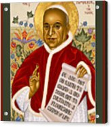 St. John Xxiii - Rlpjn Acrylic Print