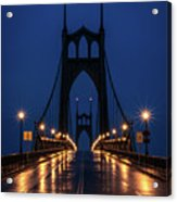 St Johns Bridge Shine Acrylic Print