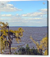 St. Johns River Meets The Ocean Acrylic Print