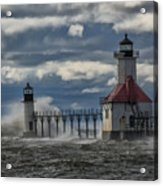 Big Waves - St. Joseph Lighthouse Acrylic Print