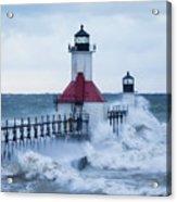 St. Joseph Lighthouse With Waves Acrylic Print