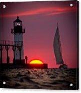 St. Joseph Michigan Sail Acrylic Print