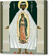 St. Juan Diego And The Miracle Of Guadalupe - Rljdm Acrylic Print