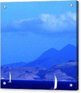 St Kitts Sailboats Acrylic Print by Thomas R Fletcher