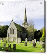 St Leonard's Church At Monyash Acrylic Print