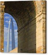 St Louis Arch And Eads Bridge   Acrylic Print