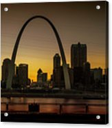 St Louis Arch At Sunset Acrylic Print