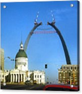 St. Louis Arch Construction Acrylic Print