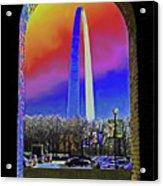 St Louis Arch Rainbow Aura  Acrylic Print