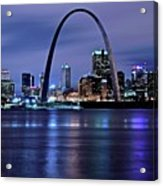 St Louis Black N Blue Acrylic Print
