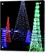 St Louis Botanical Gardens Christmas Lights Study 4 Acrylic Print