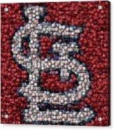 St. Louis Cardinals Bottle Cap Mosaic Acrylic Print