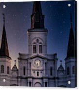 St. Louis Cathedral At Night Acrylic Print