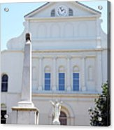 St. Louis Cathedral Back Lawn Acrylic Print
