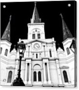 St. Louis Cathedral Drama In New Orleans Acrylic Print