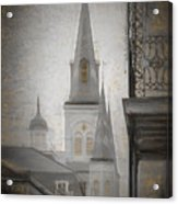 St. Louis Cathedral From Chartres St. - Nola Acrylic Print