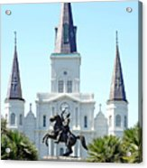 St. Louis Cathedral From Jackson Square Acrylic Print