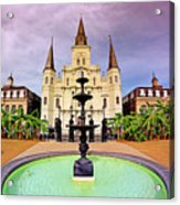 St. Louis Cathedral - New Orleans - Louisiana Acrylic Print