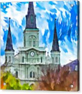 St. Louis Cathedral - Paint Acrylic Print