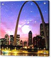 St Louis Skyline As Night Falls Acrylic Print