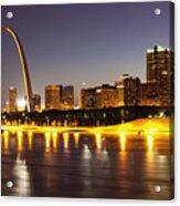 St Louis Skyline Acrylic Print by Bryan Mullennix