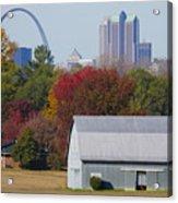 St Louis Skyline From Illinois Acrylic Print