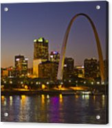 St Louis Skyline From Poplar Street Bridge Acrylic Print