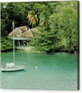 St. Lucia Mooring Acrylic Print