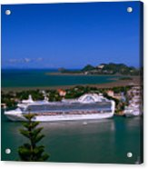 St. Lucia Port Acrylic Print