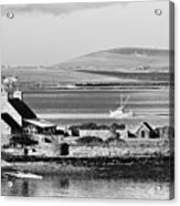 St. Margarets Hope, Orkney.    Black And White Acrylic Print