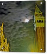 St. Marks In Venice With Moon And Venus Acrylic Print