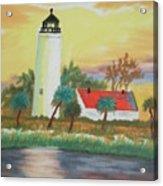 St Marks Lighthouse Fl 3 Acrylic Print