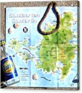 St. Martin St. Maarten Map Acrylic Print