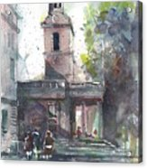 St Martins In The Field Adjacent Trafalgar Square London Acrylic Print