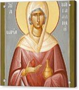 St Mary Magdalene Acrylic Print by Julia Bridget Hayes