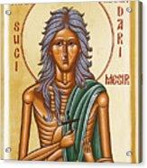 St Mary Of Egypt  Acrylic Print by Julia Bridget Hayes