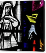 St Mary Redcliffe Stained Glass Close Up C Acrylic Print