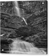St Mary Triple Cascades - Black And White Acrylic Print