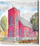 St. Mary's Catholic Church, Oneonta, Ny Acrylic Print