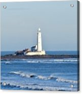 St Mary's Lighthouse Whitley Bay Acrylic Print