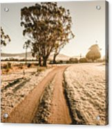 St Marys Winter Country Road Acrylic Print