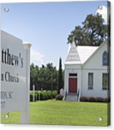 St. Matthews Lutheran Church Acrylic Print