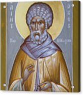 St Moses The Ethiopian Acrylic Print by Julia Bridget Hayes